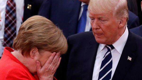 Angela Merkel và Donald Trump  - Sputnik Việt Nam