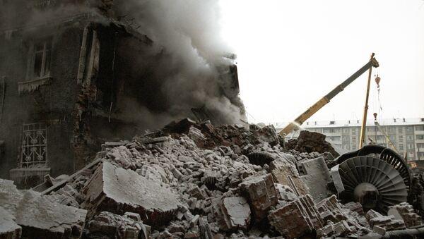 Hậu quả vụ tai nạn máy bay vận tải quân sự AN-124 (Ruslan) ở Irkutsk. Năm 1997 - Sputnik Việt Nam