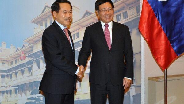 Phó Thủ tướng Phạm Bình Minh hội đàm với Bộ trưởng Ngoại giao CHDCND Lào - Sputnik Việt Nam