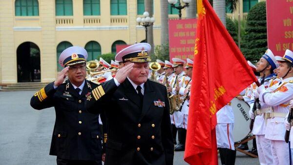 Đô đốc Korolev Vladimir Ivanovich, Tư lệnh Hải quân Liên bang Nga đến thăm Việt Nam. - Sputnik Việt Nam
