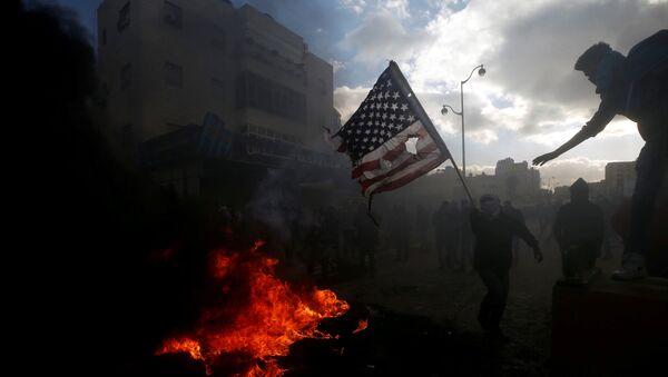 Các cuộc biểu tình phản đối quyết định của Donald Trump công nhận Jerusalem là thủ đô của Israel - Sputnik Việt Nam