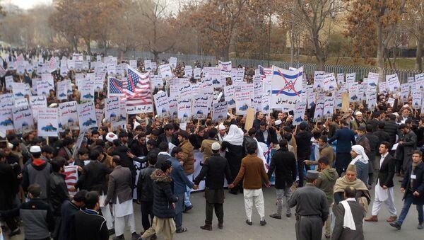 Biểu tình chống lại quyết định về Jerusalem tại Kabul - Sputnik Việt Nam