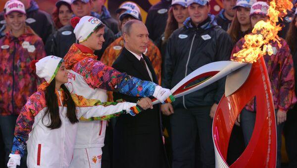 Tổng thống Nga Vladimir Putin tại Thế vận hội mùa đông 2014 tại Sochi - Sputnik Việt Nam