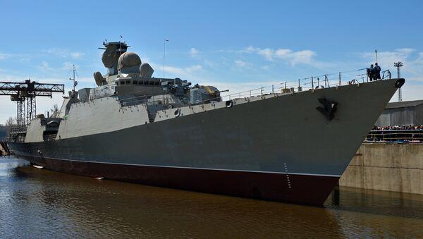 The floating-out ceremony at Zelenodolsk Shipyard for the Gepard 3.9 frigate built for Vietnam's Navy - Sputnik Việt Nam