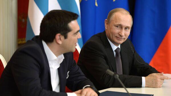 Ông Alexis Tsipras và Vladimir Putin - Sputnik Việt Nam