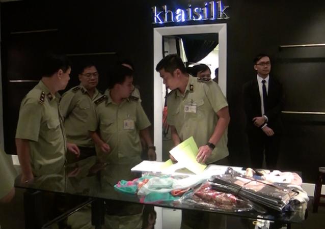 QLTT TP HCM kiểm tra cửa hàng Khaisilk tại TP HCM