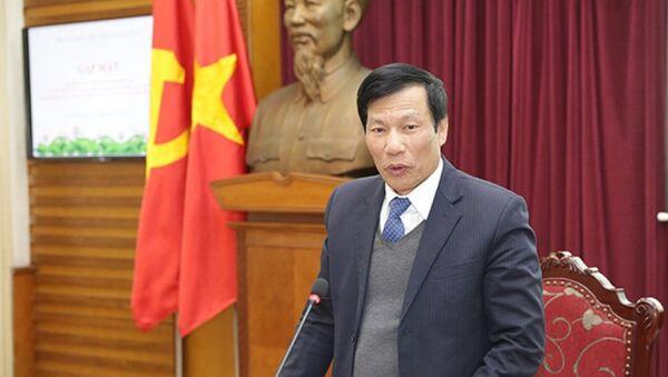 Bộ trưởng Bộ Văn hóa, Thể thao và Du lịch Nguyễn Ngọc Thiện phát biểu tại buổi gặp mặt. - Sputnik Việt Nam