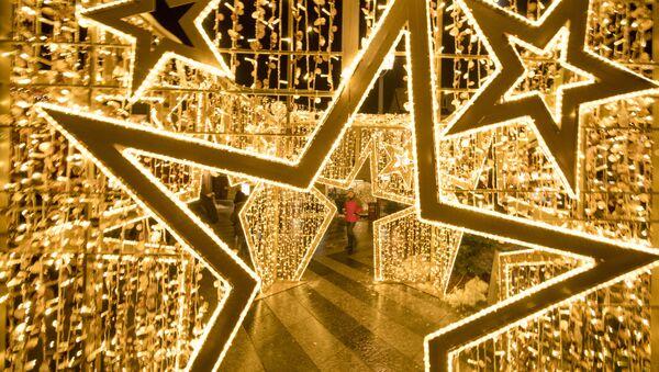 Đồ trang hoàng Giáng sinh trên quảng trường thành phố St. Polten, Áo - Sputnik Việt Nam