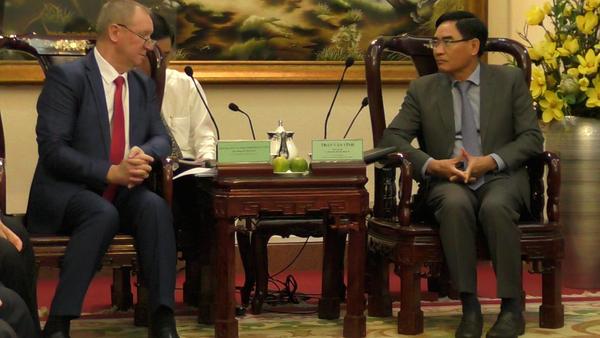 Phái đoàn của tỉnh Kursk, nằm ở phía tây nam phần châu Âu của Nga, bao gồm các đại diện chính quyền và cộng đồng kinh doanh vừa có chuyến thăm chính thức CHXHCN Việt Nam. - Sputnik Việt Nam