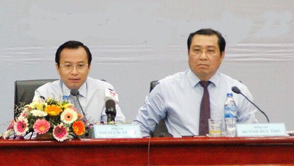 Ông Nguyễn Xuân Anh (trái) và ông Huỳnh Đức Thơ - Sputnik Việt Nam