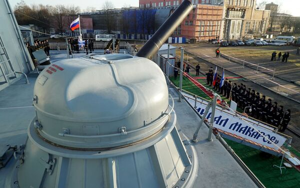 """Pháo hạm AK-630M trên tàu khu trục Đô đốc Makarov"""" - Sputnik Việt Nam"""