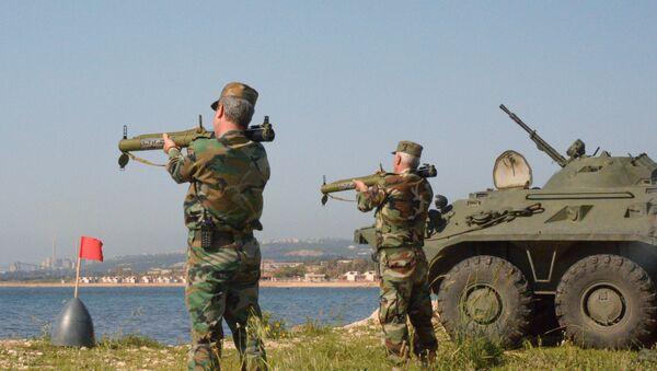 Các cuộc tập trận chung của Thủy quân lục chiến Nga và Syria ở Tartus - Sputnik Việt Nam