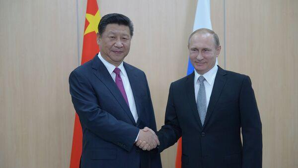 Chủ tịch Trung Quốc Tập Cận Bình  và Tổng thống Liên bang Nga Vladimir Putin - Sputnik Việt Nam