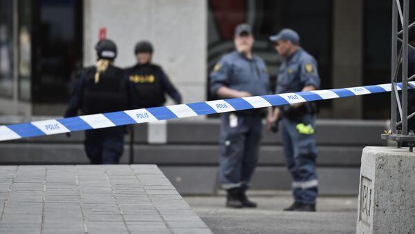 Cảnh sát ở  trung tâm Stockholm - Sputnik Việt Nam