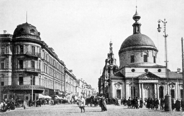 Phố Tverskaya ở Moskva. Năm 1914 - Sputnik Việt Nam