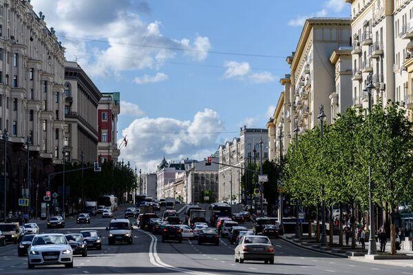 Phố Tverskaya ở Moskva (phố Gorky thời Liên Xô). Năm 2017 - Sputnik Việt Nam