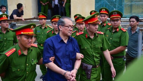 Bị cáo Phạm Công Danh sau phiên tòa - Sputnik Việt Nam