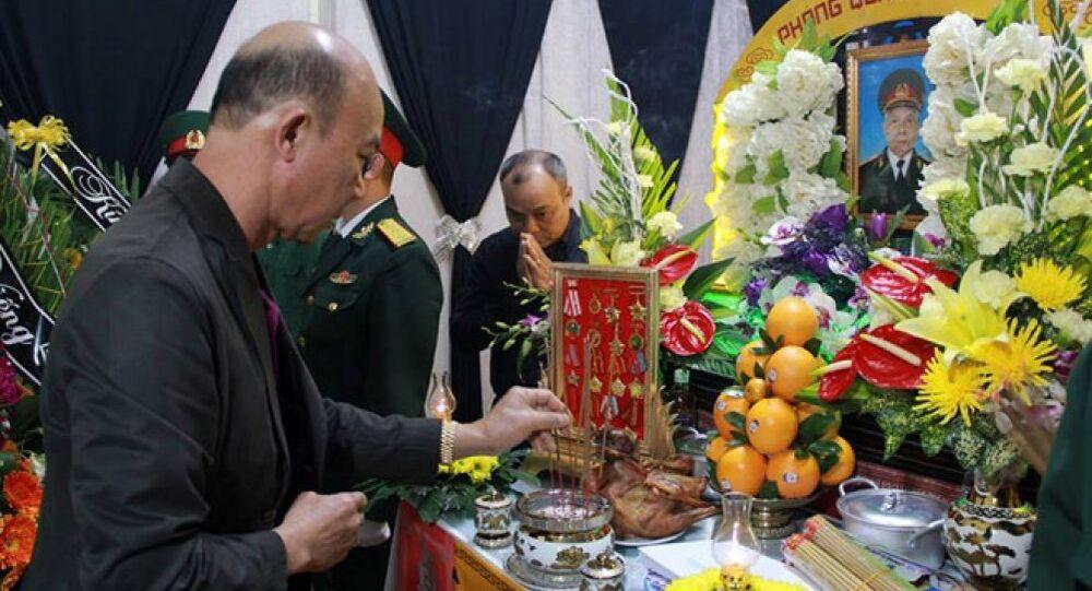 Tang lễ của thiếu tướng Y Blốk Êban được tổ chức tại nhà riêng ở xã Hòa Xuân, TP Buôn Ma Thuột.