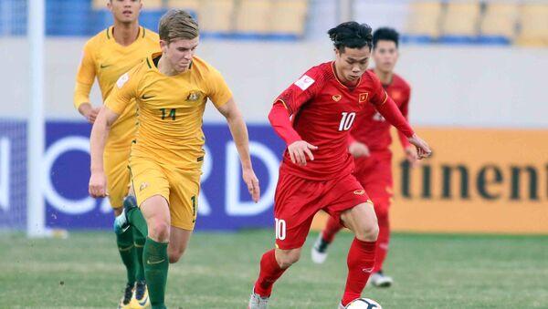 Quang Hải lập công, U.23 Việt Nam vượt qua Úc ở Trung Quốc - Sputnik Việt Nam