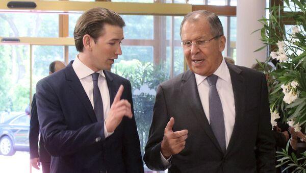 Sebastian Kurz với Sergei Lavrov - Sputnik Việt Nam