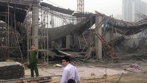 Hiện trường vụ sập giáo - Sputnik Việt Nam