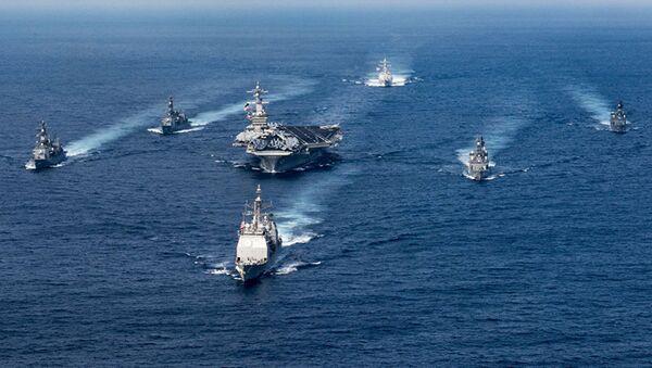 Nhóm tàu sân bay tấn công của Hải quân Hoa Kỳ, do Hàng không mẫu hạm Karl Vinson dẫn đầu - Sputnik Việt Nam