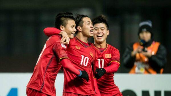 Việt Nam đã giành thắng lợi sau loạt sút luân lưu 11m trước Iraq. - Sputnik Việt Nam