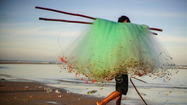 Ngư dân ven biển làng Kê Gà ở Việt Nam - Sputnik Việt Nam