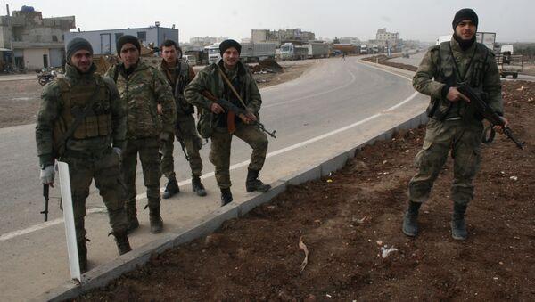 Quân đội Syria tự do (FSA) ở Afrin - Sputnik Việt Nam