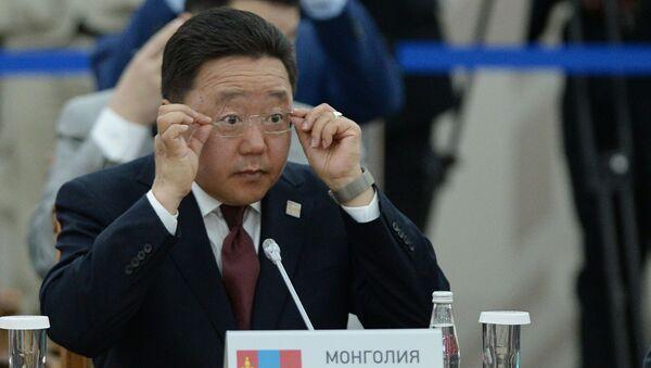 Mông Cổ - quốc gia quan sát viên SCO. Tổng thống Mông Cổ Tsakhiagiin Elbegdorj - Sputnik Việt Nam