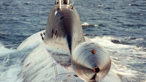 """Phần đuôi chứa ăng ten kéo của tàu ngầm đề án 971 """"Schucka-B"""" - Sputnik Việt Nam"""