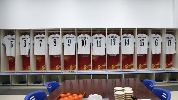Trang phục ra sân của U23 Uzbekistan được cập nhật trước trận đấu. - Sputnik Việt Nam
