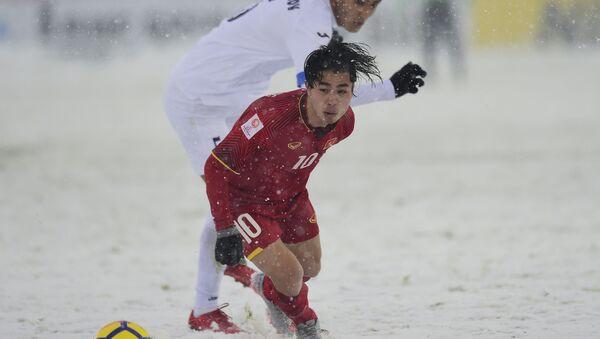 Матч финала Чемпионата Азии U-23 между молодежными сборными Вьетнама и Узбекистана в Чанчжоу - Sputnik Việt Nam