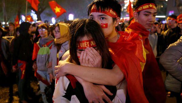 Người hâm mộ bóng đá Việt Nam sau trận chung kết giải vô địch châu Á U-23 giữa hai đội trẻ của Việt Nam và Uzbekistan - Sputnik Việt Nam