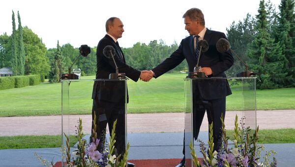 Tổng thống Nga Vladimir Putin với Tổng thống Phần Lan Sauli Niinistö - Sputnik Việt Nam