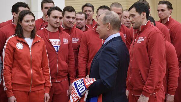 Ông Vladimir Putin Gặp đã  gỡ các VĐV Olympic - Sputnik Việt Nam