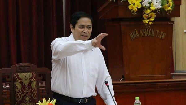 Ông Phạm Minh Chính phát biểu tại hội nghị. - Sputnik Việt Nam