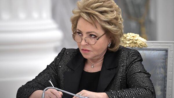 Chủ tịch Hội đồng Liên bang Nga Valentina Matvienko - Sputnik Việt Nam