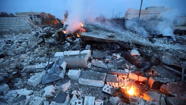 Máy bay Nga Su-25 bị rơi ở Syria - Sputnik Việt Nam