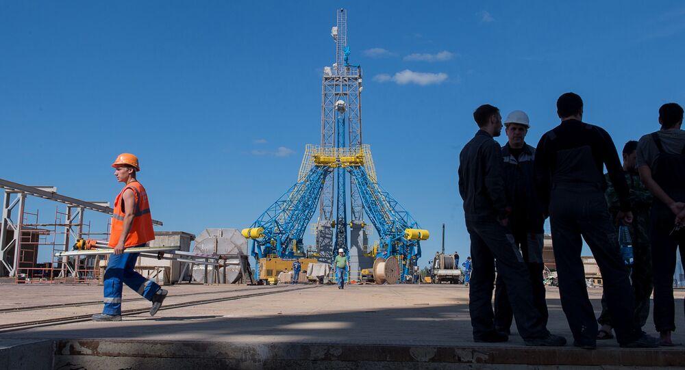 Sân xuất phát tại sân bay vũ trụ Vostochny ở tỉnh Amurskaya