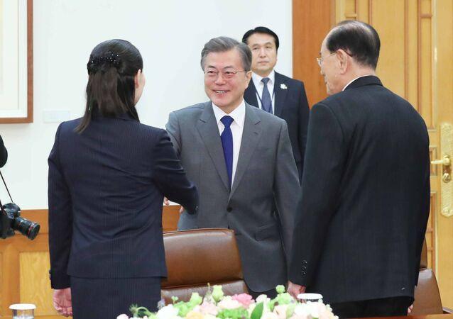 Сuộc đàm phán giữa phái đoàn CHDCND Triều Tiên và Tổng thống Hàn Quốc