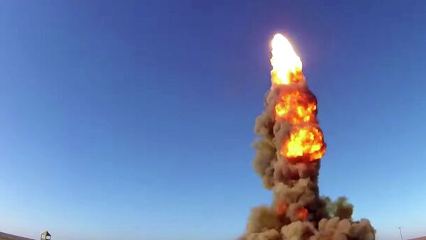 Пуск модернизированной противоракеты системы ПРО на полигоне Сары-Шаган - Sputnik Việt Nam
