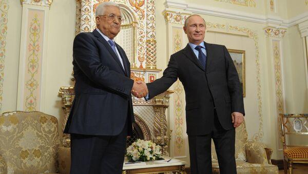 Mahmoud Abbas với Vladimir Putin - Sputnik Việt Nam
