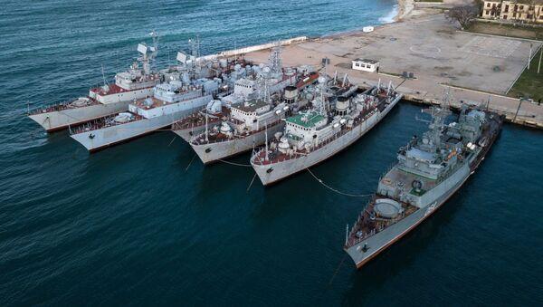 Tàu hải quân Ukraina ở Crưm - Sputnik Việt Nam
