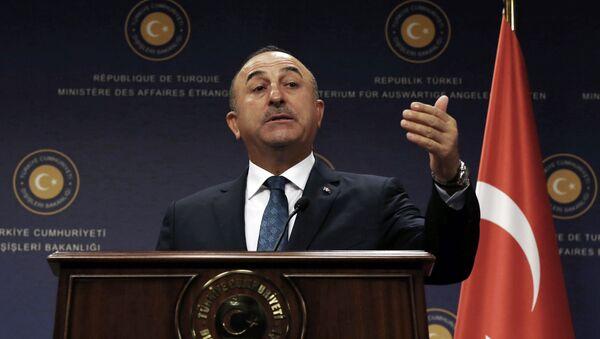 Ngoại trưởng Thổ Nhĩ Kỳ Mevlut Cavusoglu. - Sputnik Việt Nam