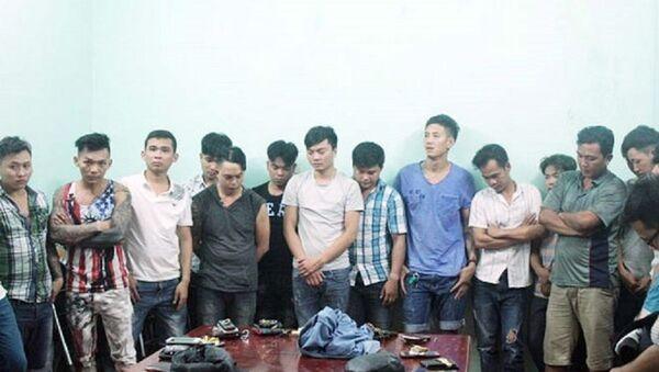 Các đối tượng tham gia vụ ẩu đả đêm 30 Tết bị bắt giữ. - Sputnik Việt Nam