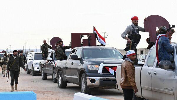 Quân Syria tiến vào Afrin - Sputnik Việt Nam