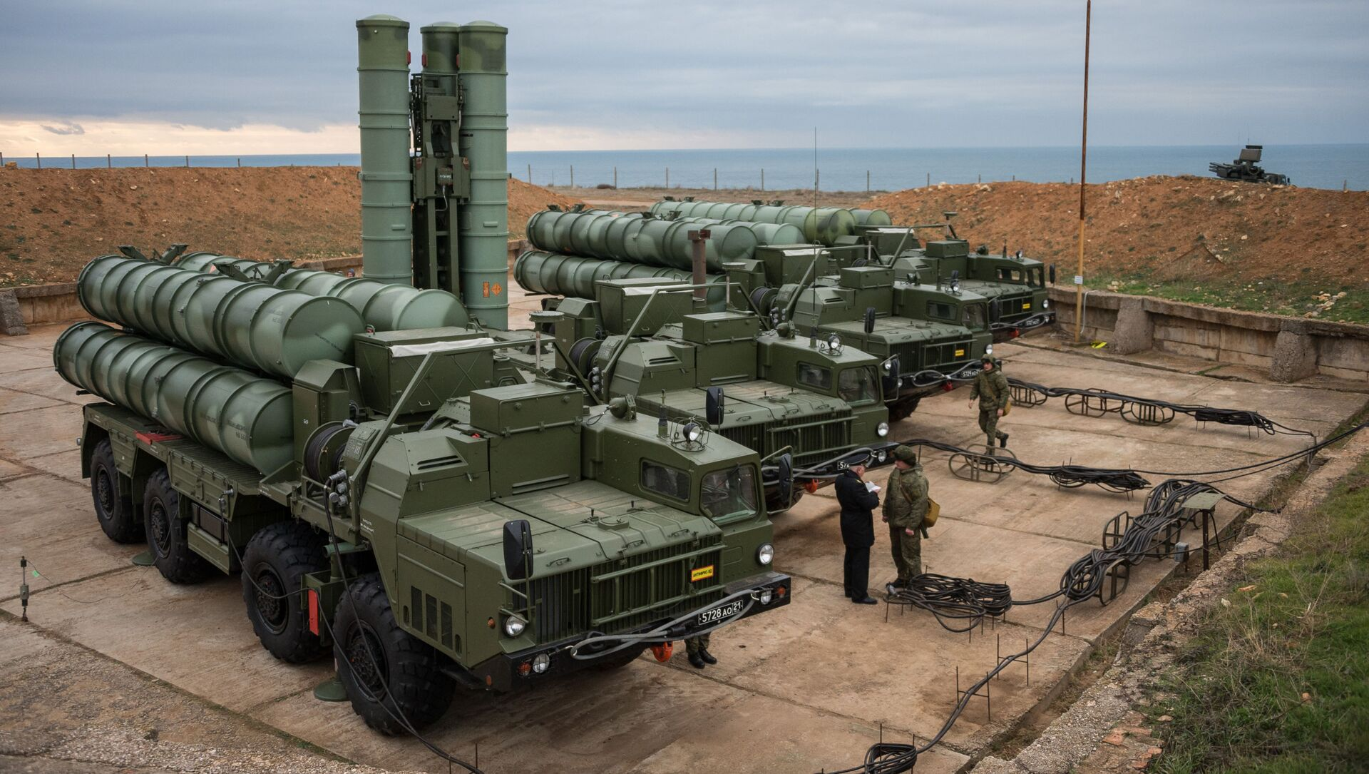 Зенитный ракетный комплекс С-400 Триумф полка противовоздушной обороны в Крыму - Sputnik Việt Nam, 1920, 12.03.2021