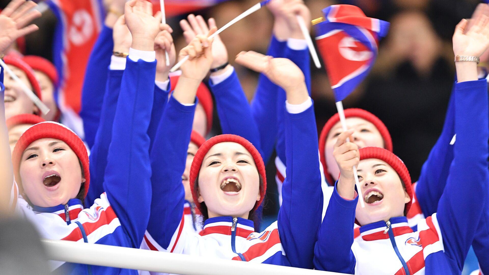 Người hâm mộ Bắc Triều Tiên tại Thế vận hội mùa đông XXIII ở Pyeongchang - Sputnik Việt Nam, 1920, 09.09.2021