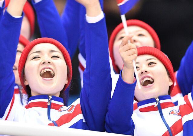 Người hâm mộ Bắc Triều Tiên tại Thế vận hội mùa đông XXIII ở Pyeongchang